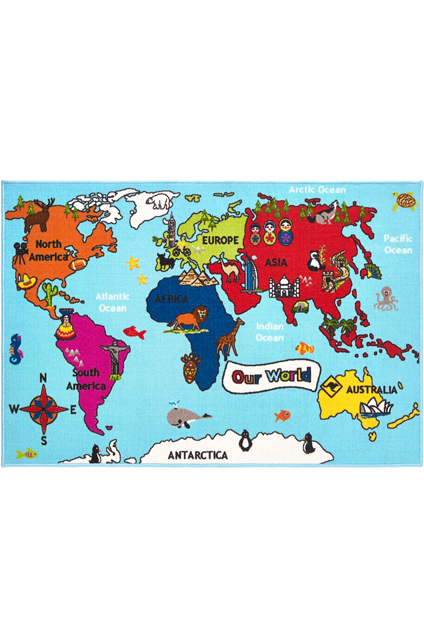 Bambino World Map Rug